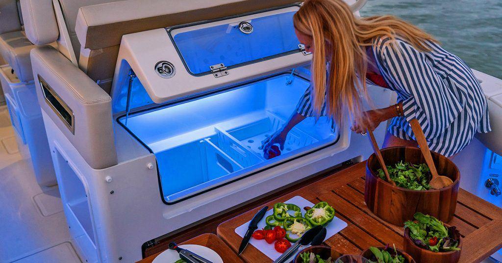 350 Realm cooler mezzanine seat