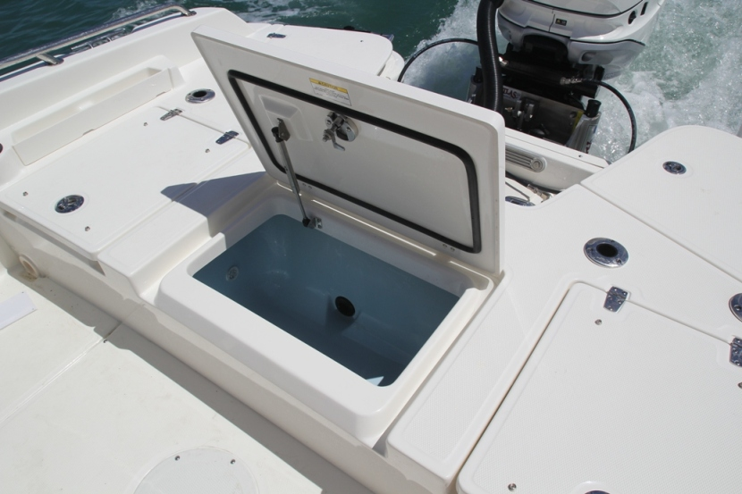 Stern deck livewell option to enhance your fishing