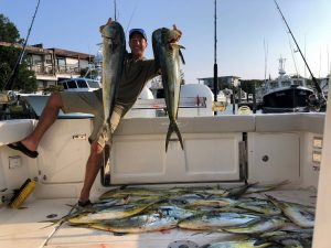 Owner-submitted picture of their best fishing catch with a bunch of Mahi